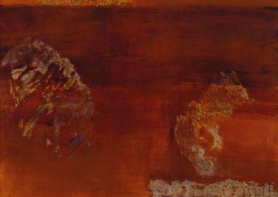 "Ogham, 60""x 40"" acrylic & pumice on canvas"