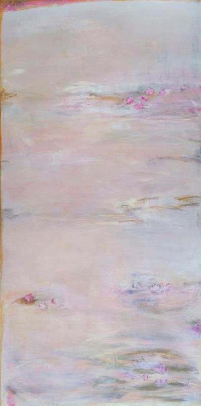 "Meditation II 24"" x 48"" acrylic on canvas"